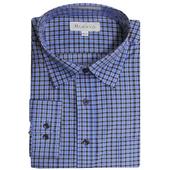 《MURANO》MIT台灣製正式格紋襯衫-藍黑格(M)