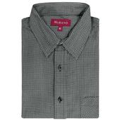 暖流千鳥格紋燈芯絨男款長袖襯衫-灰色