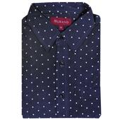 《MURANO》暖流圓點印花燈芯絨男款長袖襯衫-藍色(M)