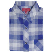 《MURANO》彈力休閒男款長袖襯衫-格子方格(XL)