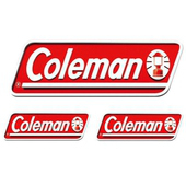 《Coleman》原廠貼紙/3PCS # CM-0524J