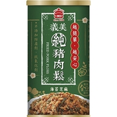《義美》純豬肉鬆-海苔芝麻(175g/罐)