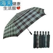 《【海夫健康生活館】》27吋 央帶格 自動開收傘(A)