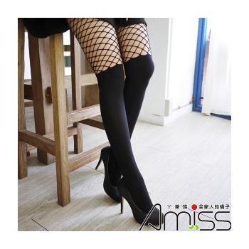 歐美時尚§精緻造型-性感膝上雕空中網褲襪(3雙/組)