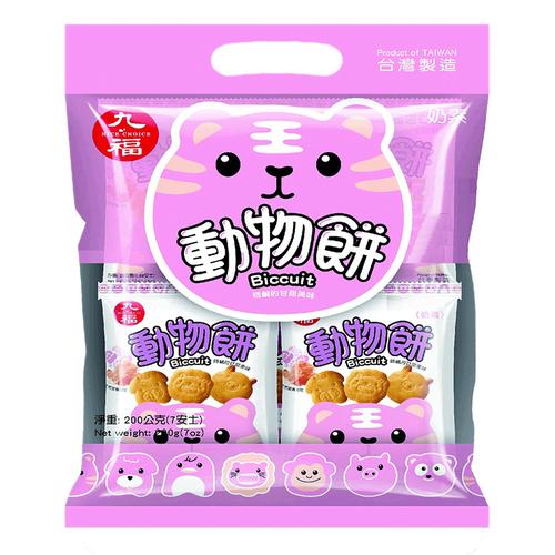 《九福》動物餅-岩鹽風味(200g/包)
