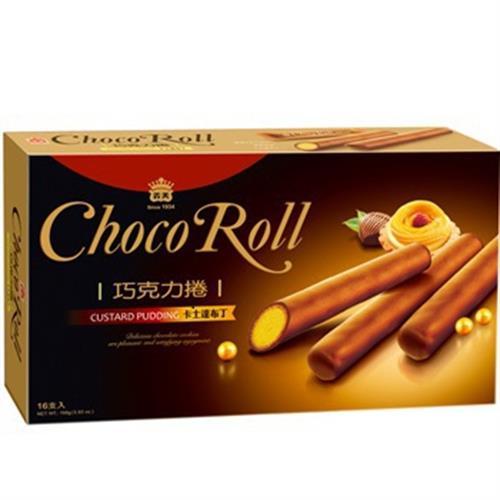 義美 巧克力捲(卡士達布丁)(168g/盒)