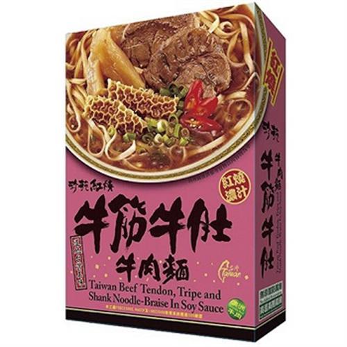珍苑 紅燒牛筋牛肚牛肉麵(470g)