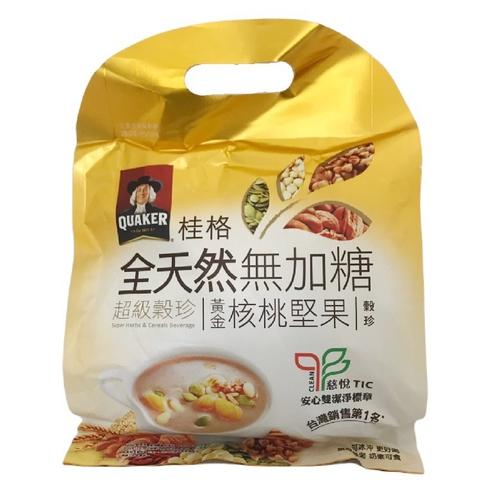 《桂格》全天然無加糖超級穀珍黃金堅果(25g*10包/袋)