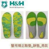《H&H》南良醫用矯正鞋墊(未滅菌) H&H 靜態鞋墊_久站者專用(迷彩紅S 24.5-26cm)