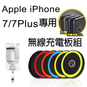 AHEAD領導者 Apple iPhone 7 7Plus 專用 無線充電板+無線接收片 無線充電組(iP7貼片+黑/綠)
