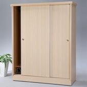 《Homelike》達雷5x7滑門衣櫥-白橡