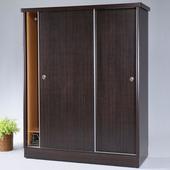 《Homelike》達雷5x7滑門衣櫥-胡桃
