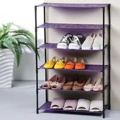 抽象輕巧六層鞋架