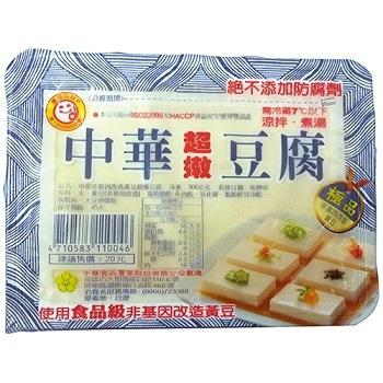 中華 非基因改造超嫩豆腐(300g/盒*3)