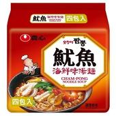 《農心》魷魚海鮮味湯麵(120g x 4包)