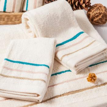 《MORINO》【MORINO摩力諾】有機棉三緞條毛巾任選2件組(2件入)