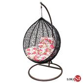 《LOGIS》中黑毬果休閒吊籃椅 吊椅 鳥巢椅