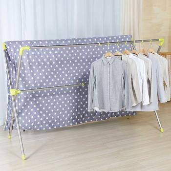 《LOGIS》日系X型伸縮曬衣架不鏽鋼吊衣架 曬被架 晾衣架