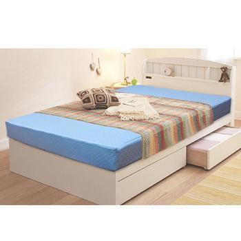 KOTAS 高週波吸濕排汗二折彈簧床(單人)(藍色)