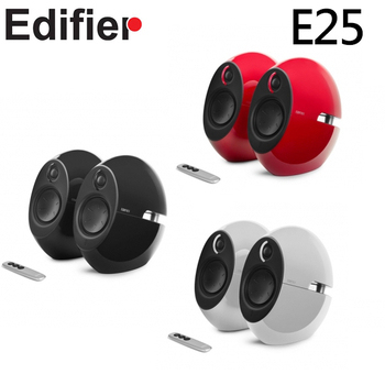 Edifier Edifier 漫步者 E25 2.0 聲道高級感兩件式喇叭 烈焰紅 / 無暇白 / 曜石黑(烈焰紅)