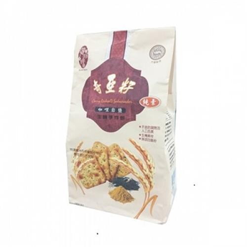 御珍嚐 奇亞籽咖哩岩鹽生機手作餅(270g / 包)
