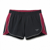 《BROOKS》女款-二件式超彈力慢跑短褲3.5吋 黑/果醬紅 #BK220655015(S)