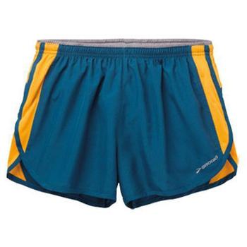 BROOKS 男款-二件式慢跑短褲3.5吋 波賽頓藍/芒果橘 #BK210559473(S)
