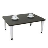 《頂堅》寬80x深60/公分-和室桌/休閒桌/矮桌(深胡桃木色)三款腳座可選(尖形腳)