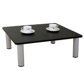 《頂堅》寬80x深60/公分-和室桌/休閒桌/矮桌(深胡桃木色)三款腳座可選(圓形腳)