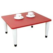 《頂堅》寬60x深60/公分-和室桌/休閒桌/矮桌(喜氣紅色)三款腳座可選(錐形腳)