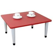 《頂堅》寬60x深60/公分-和室桌/休閒桌/矮桌(喜氣紅色)三款腳座可選(尖形腳)