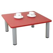 《頂堅》寬60x深60/公分-和室桌/休閒桌/矮桌(喜氣紅色)三款腳座可選(圓形腳)