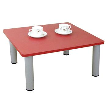 頂堅 寬60x深60/公分-和室桌/休閒桌/矮桌(喜氣紅色)三款腳座可選(圓形腳)