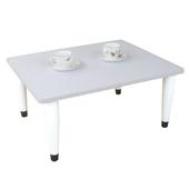 《頂堅》寬60x深60/公分-和室桌/休閒桌/矮桌(素雅白色)三款腳座可選(錐形腳)