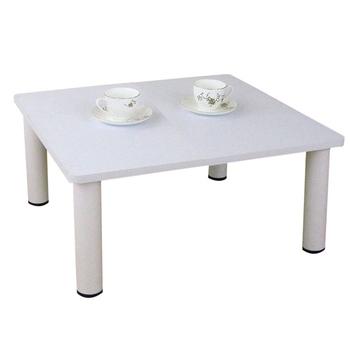 頂堅 寬60x深60/公分-和室桌/休閒桌/矮桌(素雅白色)三款腳座可選(圓形腳)