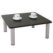 《頂堅》寬60x深60/公分-和室桌/休閒桌/矮桌(深胡桃木色)三款腳座可選(圓形腳)