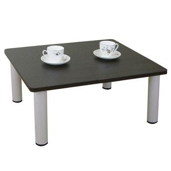 頂堅 寬60x深60/公分-和室桌/休閒桌/矮桌(深胡桃木色)三款腳座可選(圓形腳)