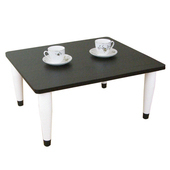 《頂堅》寬60x深60/公分-和室桌/休閒桌/矮桌(深胡桃木色)三款腳座可選(錐形腳)