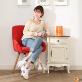 《BuyJM》免組裝復古鄉村風立體浮雕實木斗櫃/收納櫃(米白色)