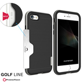 《PhoneFoam》Golf iPhone7 Plus 插卡式防震保護殼(金)