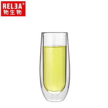 香港RELEA物生物 150ml意式元素雙層耐熱玻璃杯