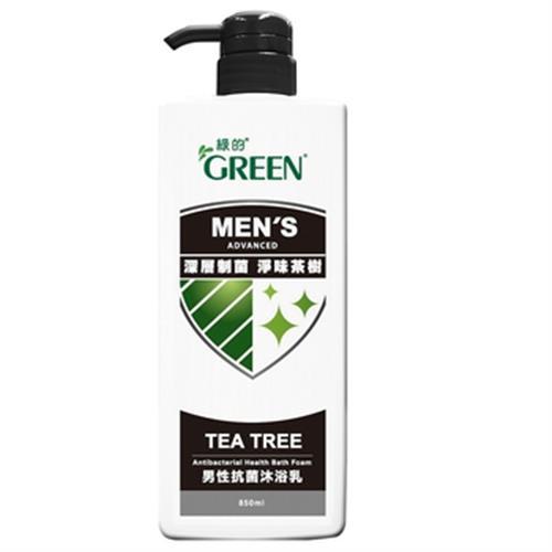 《綠的》男性抗菌沐浴乳-淨味制菌茶樹(850ml)