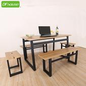 《DFhouse》英式工業風-餐桌+2雙人餐椅+2單人餐椅(如圖示)