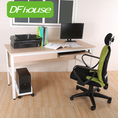 《DFhouse》巴菲特150公分電腦辦公桌+1鍵盤+1抽屜+主機架*四色可選*(胡桃木色)