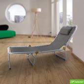 《DFhouse》五段式三折躺椅(灰色)