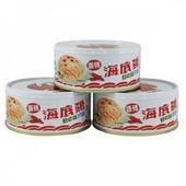 《紅鷹牌》海底雞鮮之味香辣片狀(150gx3罐/組)
