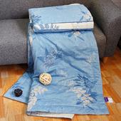 《FITNESS》精梳純棉涼被- 夏之葉語(藍)(152*200CM)