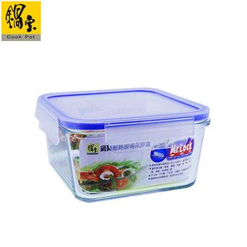 鍋寶 耐熱玻璃保鮮盒1100ml BVC-1102(BVC-1102)