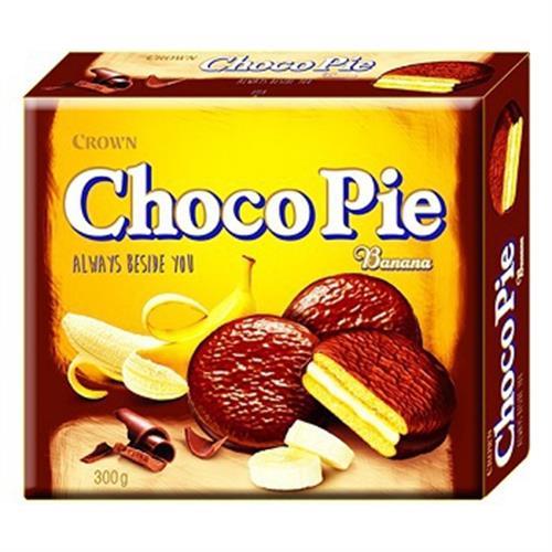 CROWN 香蕉巧克力派(300g/盒)