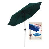 《【大傘王】》9呎8骨高級玻纖鋁傘,輕便且不易生銹,全自動彎向全台獨家!優質戶外休閒傘具,可置於庭園(AFT-6311)